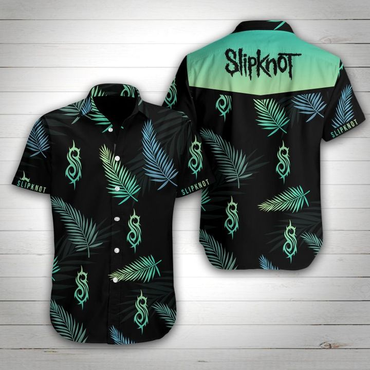 Slipknot tropical flower hawaiian shirt 1