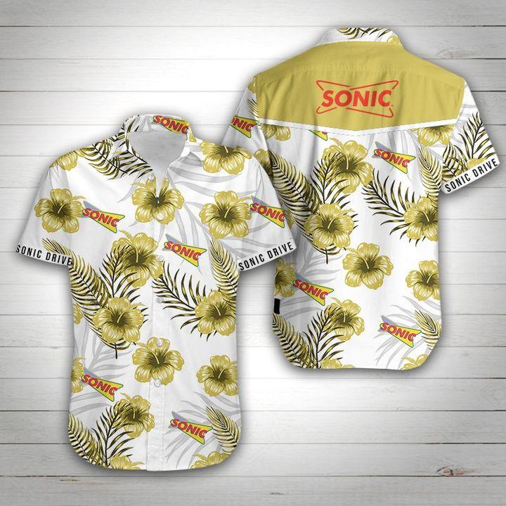 Sonic tropical flower hawaiian shirt 1