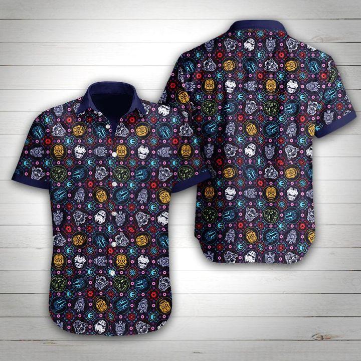 Star wars tropical flower hawaiian shirt 1