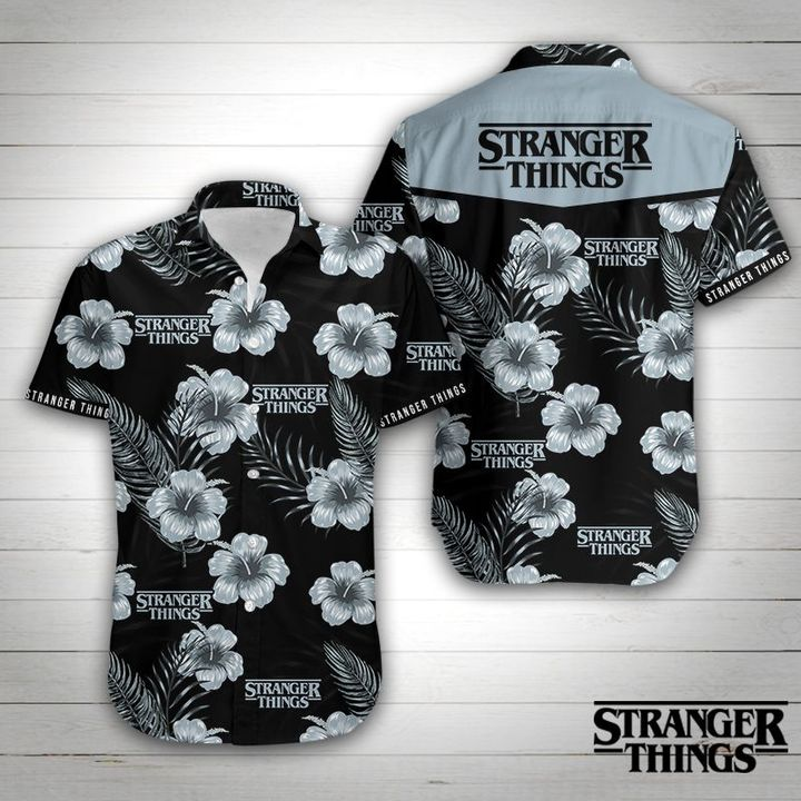 Stranger things tropical flower hawaiian shirt 1