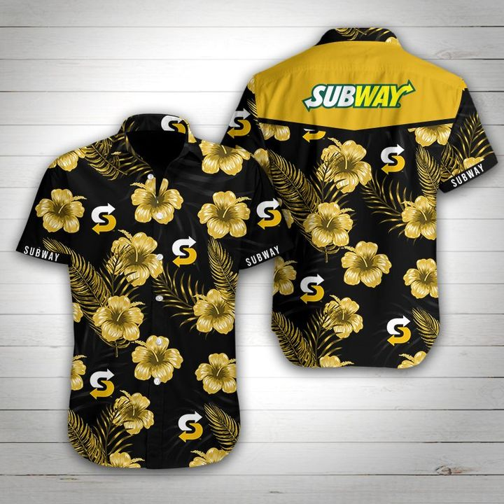 Subway tropical flower hawaiian shirt 4