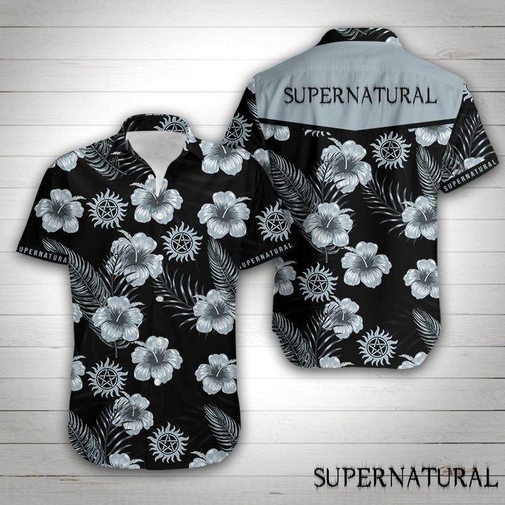 Supernatural tropical flower hawaiian shirt 4