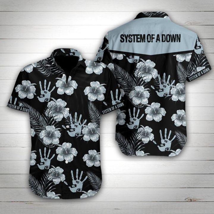 System of a down tropical flower hawaiian shirt 4