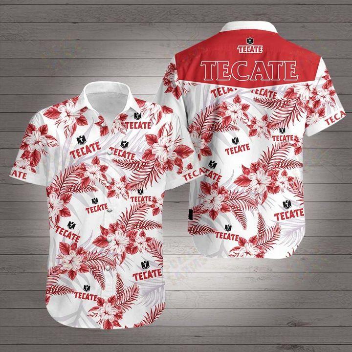 Tecate beer hawaiian shirt 1