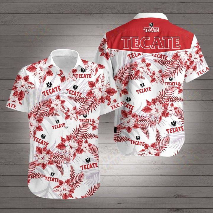 Tecate beer hawaiian shirt 3