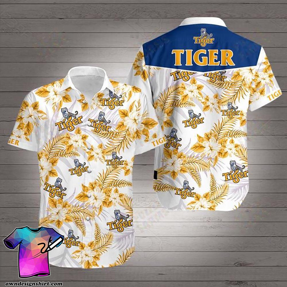 Tiger beer hawaiian shirt