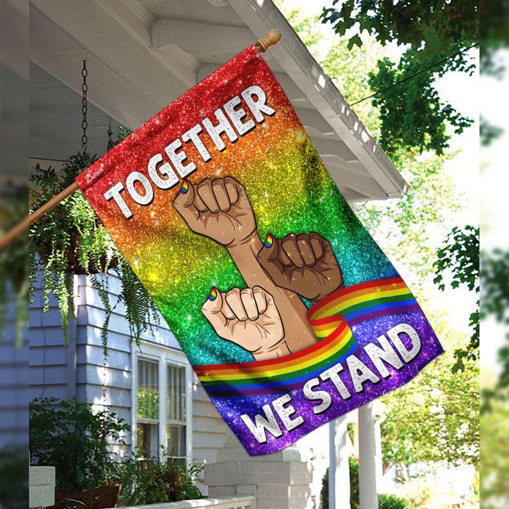 Together we stand lgbt flag 2