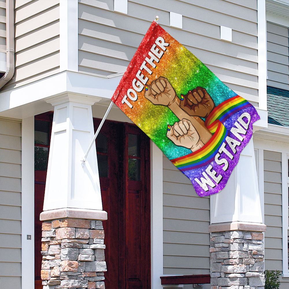 Together we stand lgbt flag 3
