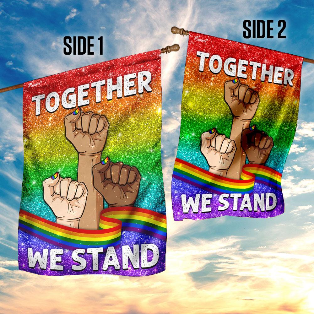 Together we stand lgbt flag 4