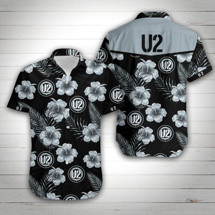 U2 tropical flower hawaiian shirt 2