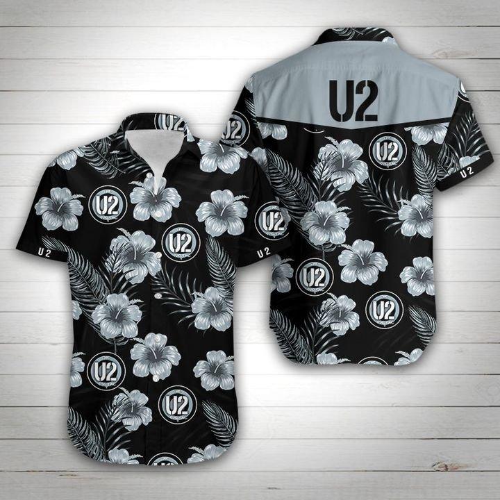 U2 tropical flower hawaiian shirt 3