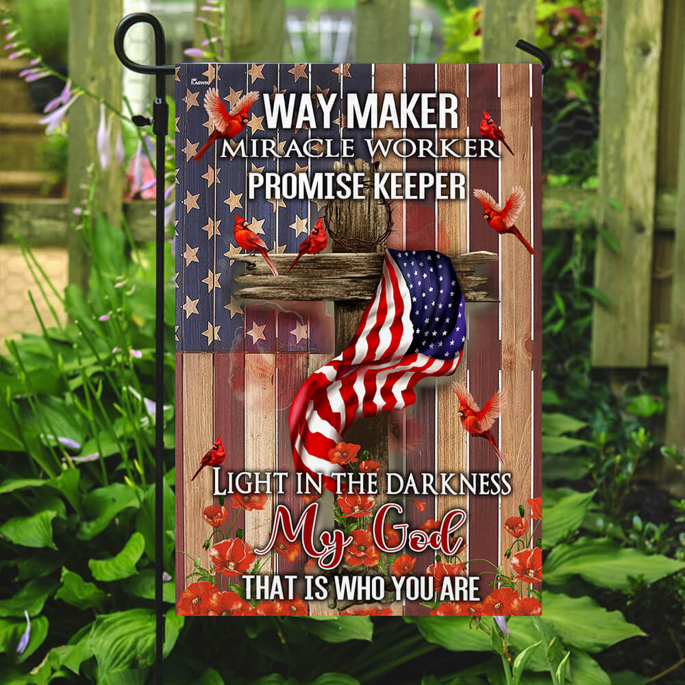 Way maker miracle worker promise keeper light in the darkness my God flag 1