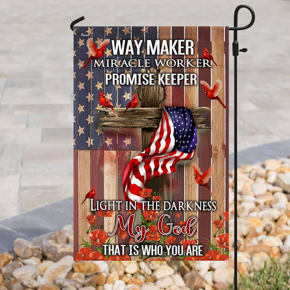 Way maker miracle worker promise keeper light in the darkness my God flag 2