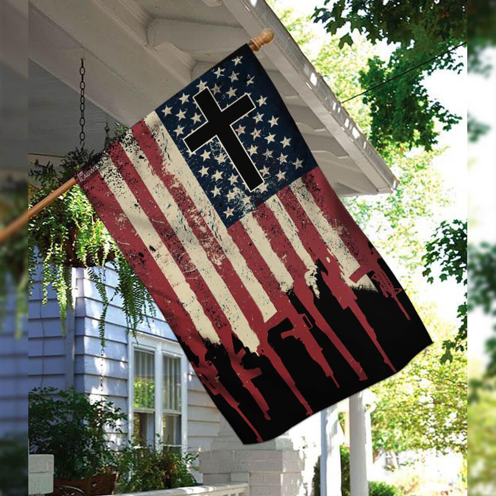 We the people 2nd amendment christian cross flag 2