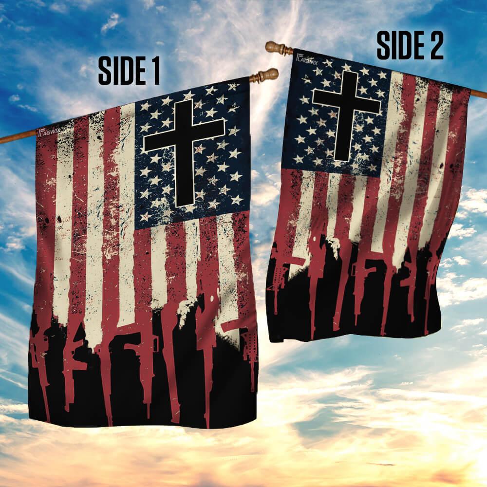 We the people 2nd amendment christian cross flag 4