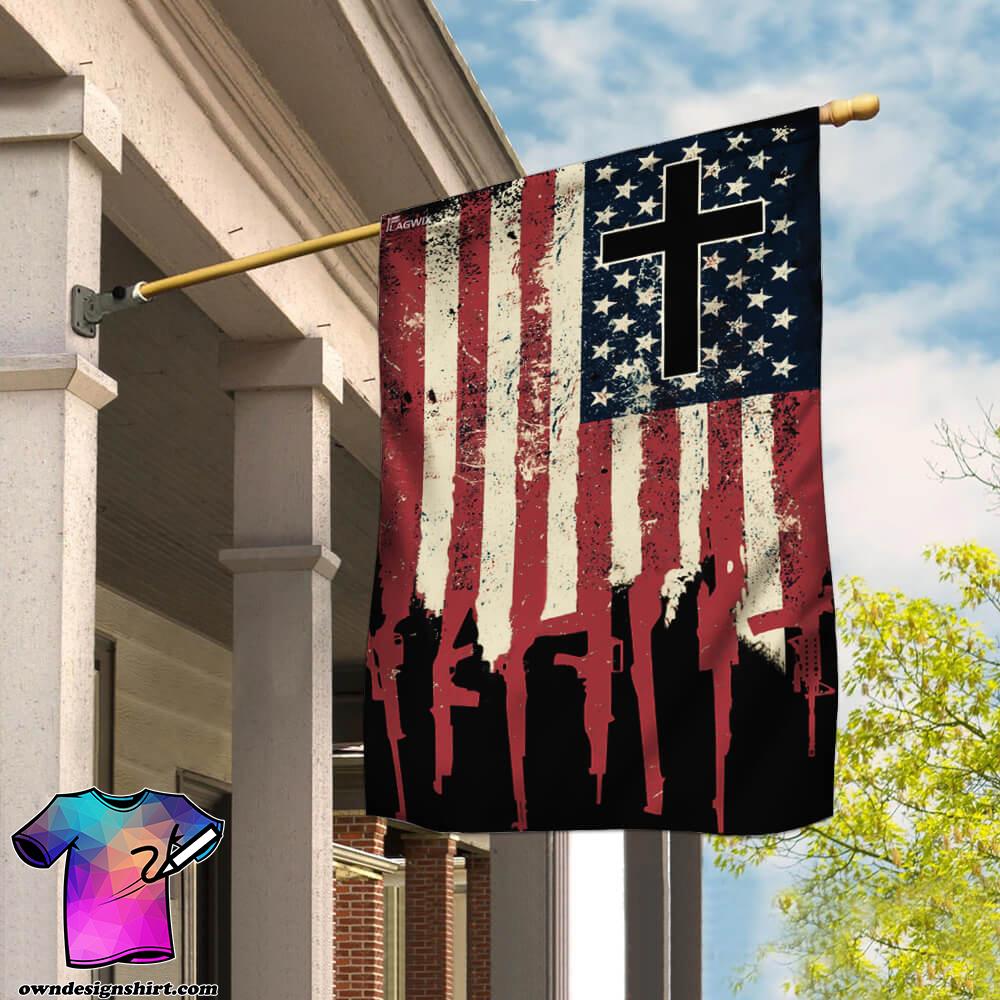 We the people 2nd amendment christian cross flag