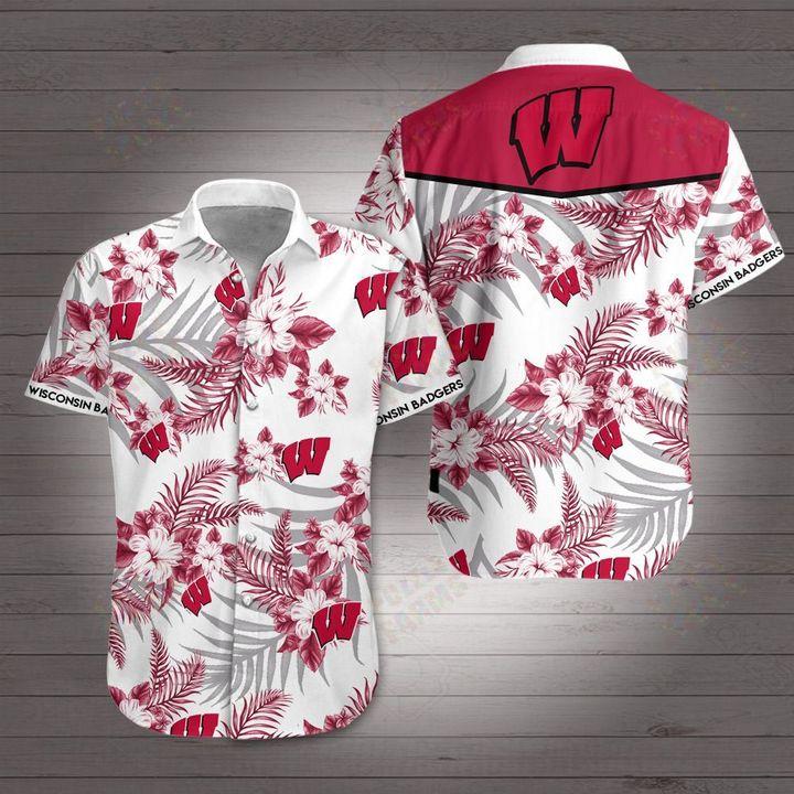 Wisconsin badgers football hawaiian shirt 1