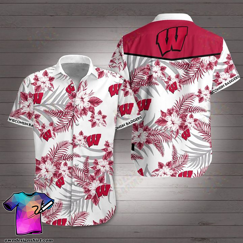 Wisconsin badgers football hawaiian shirt