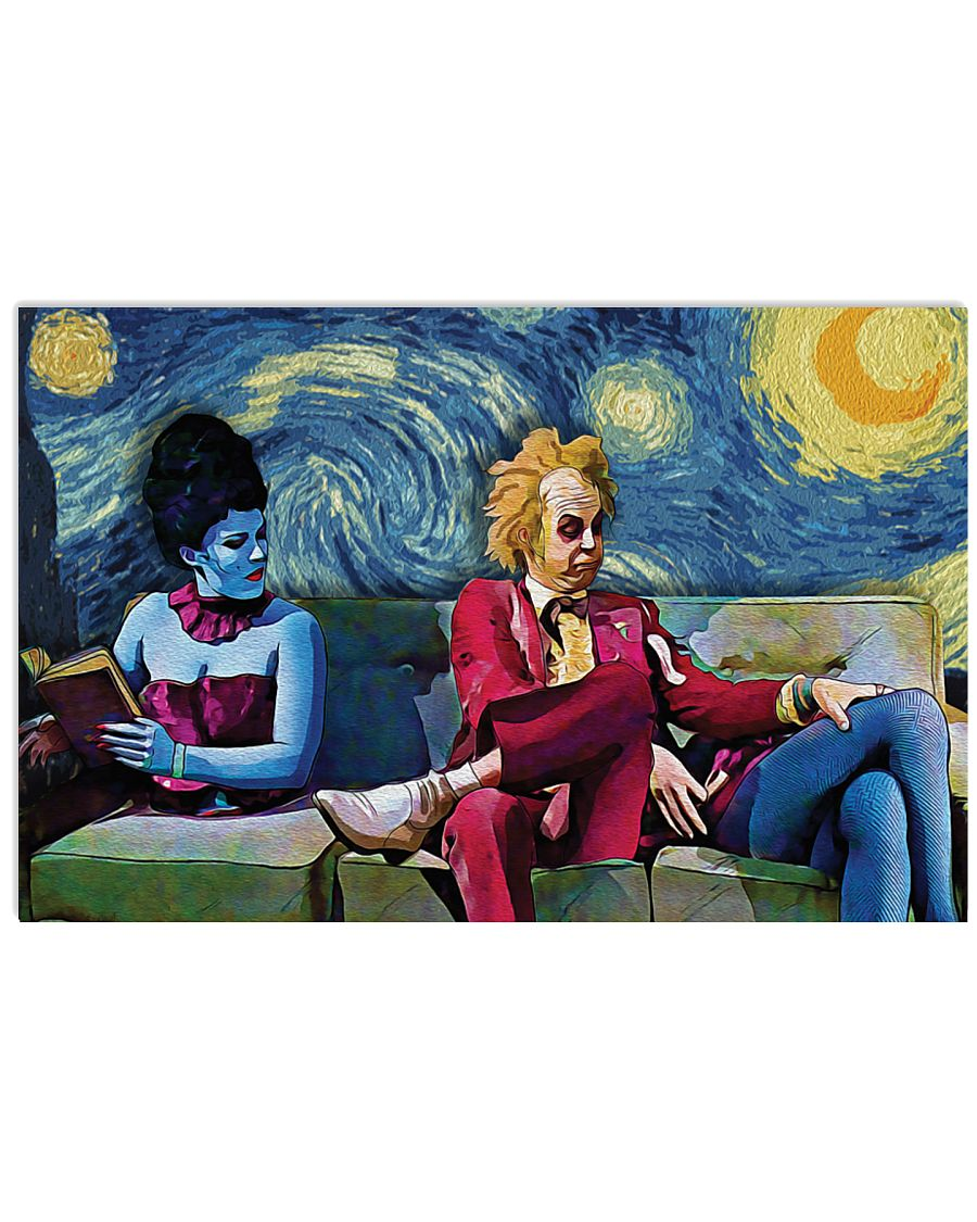 Beetlejuice lydia starry night van gogh horizontal graphic poster 2