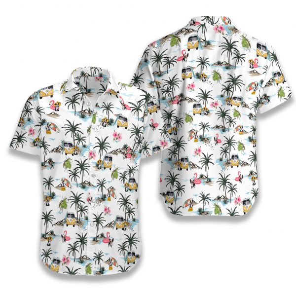 Boston terrier hawaii hawaiian shirt 1
