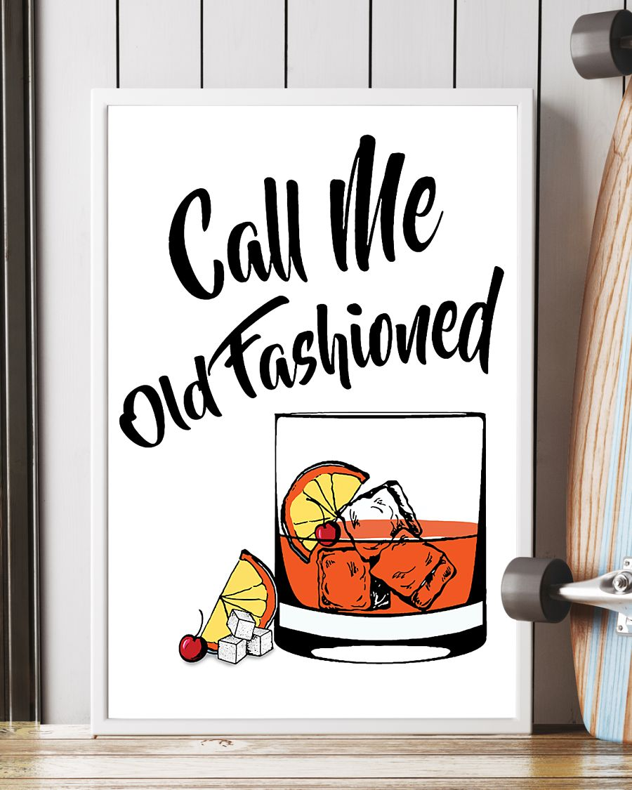 Call me old fashioned vertical drink cocktail poster 1
