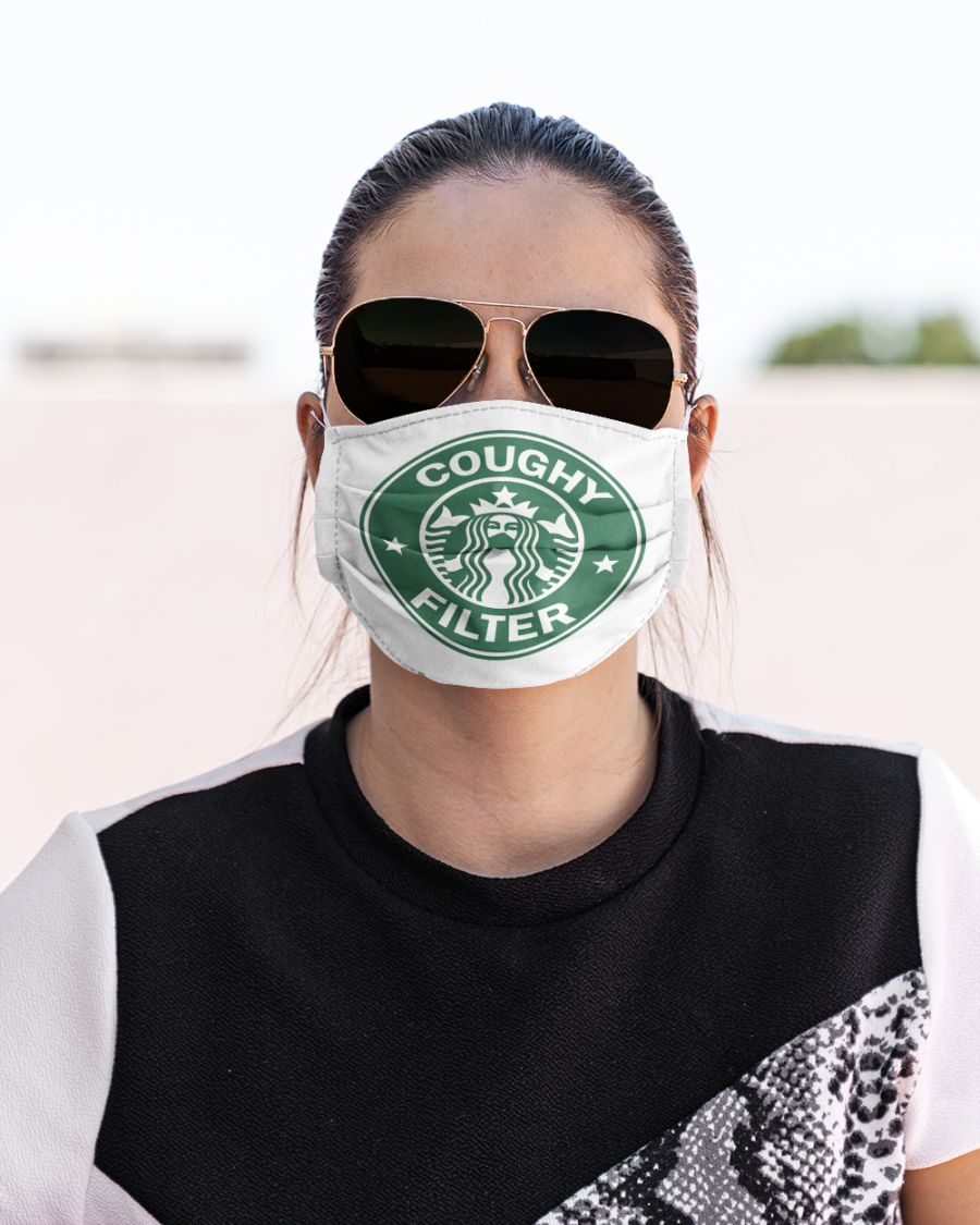 Coughy filter starbucks all over printed face mask 1