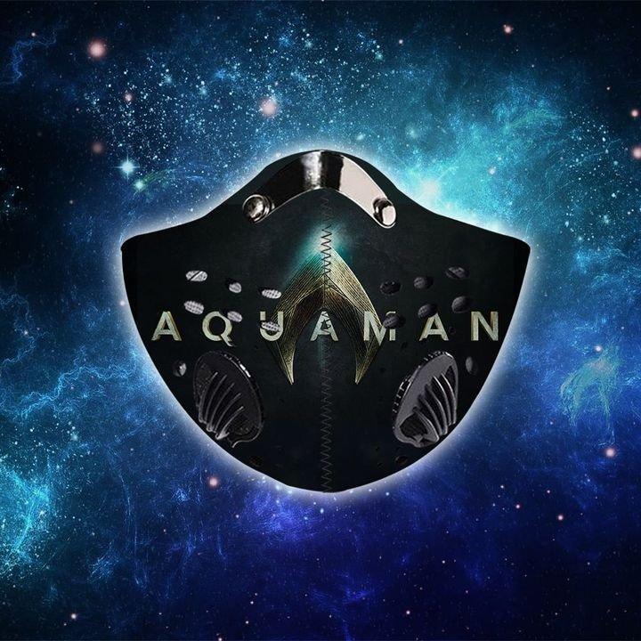 DC comics aquaman speed light filter activated carbon face mask 3