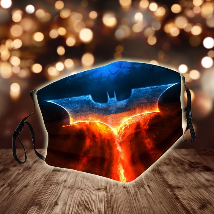 DC comics batman fire night all over printed face mask 1
