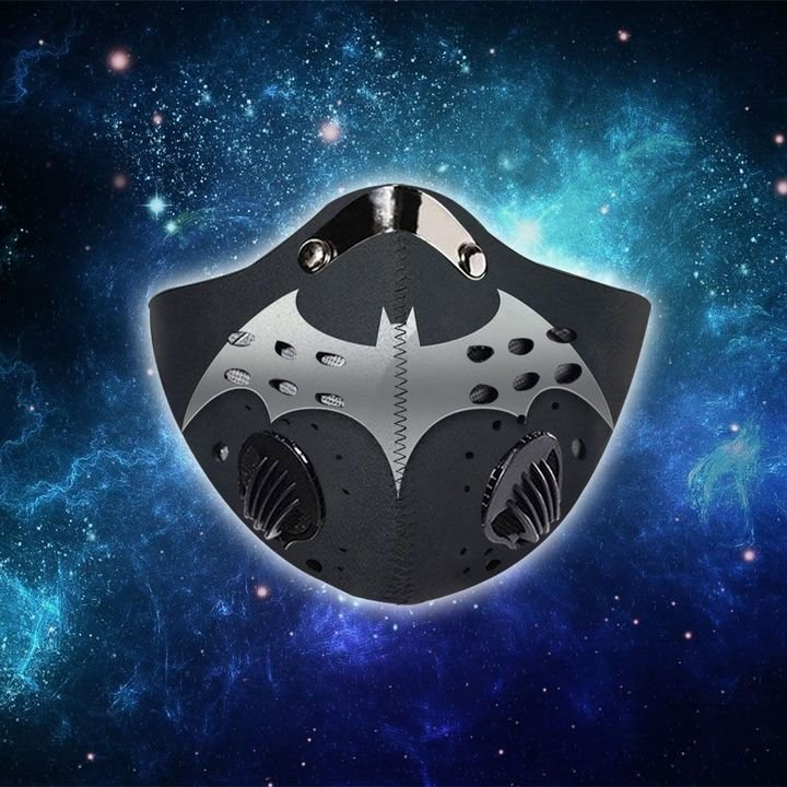 DC comics batman metallic filter activated carbon face mask 1