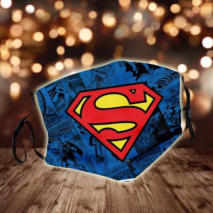 DC comics superman all over printed face mask 2