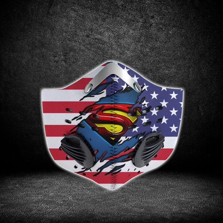 DC comics superman american flag filter activated carbon face mask 1