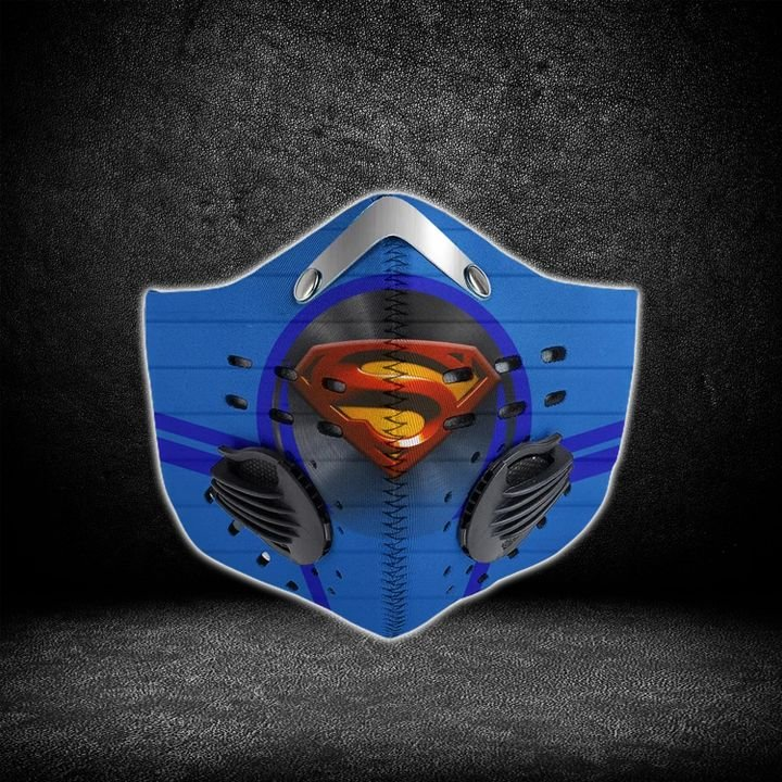 DC comics superman i am coming filter activated carbon face mask 1