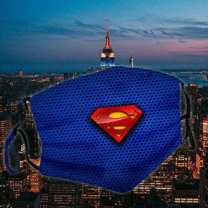 DC comics superman symbol all over printed face mask 2