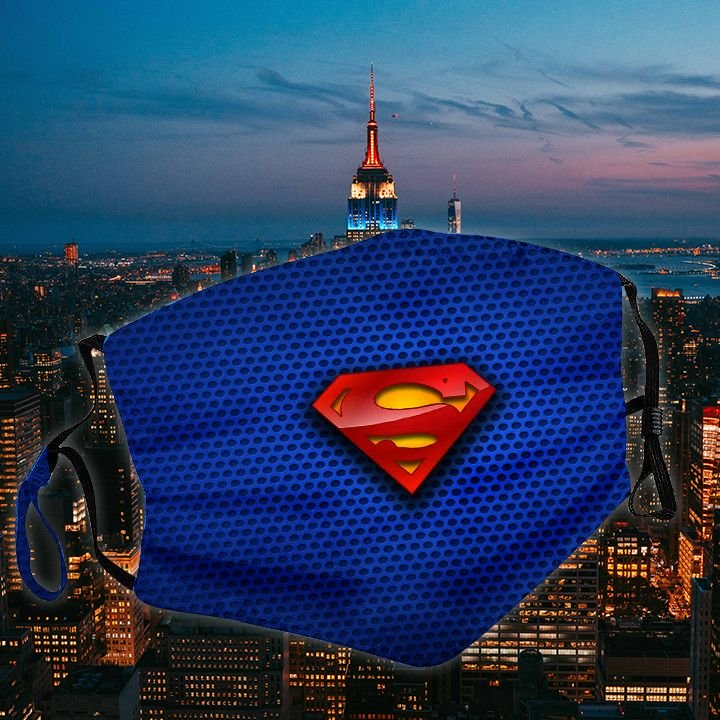 DC comics superman symbol all over printed face mask 3