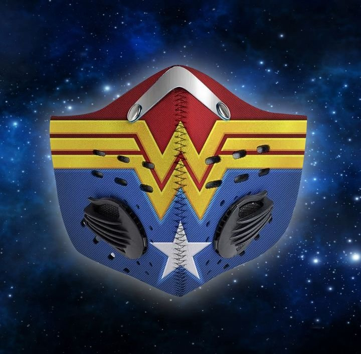 DC comics wonder woman fire filter activated carbon face mask 1
