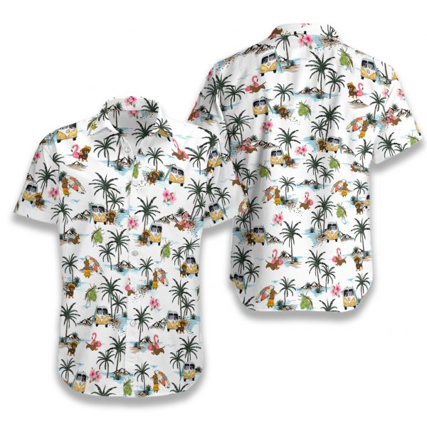 Dachshund hawaii hawaiian shirt 1