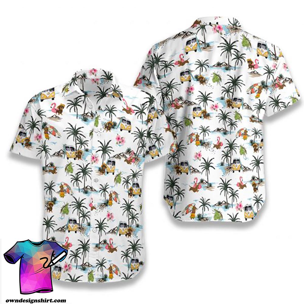 Dachshund hawaii hawaiian shirt