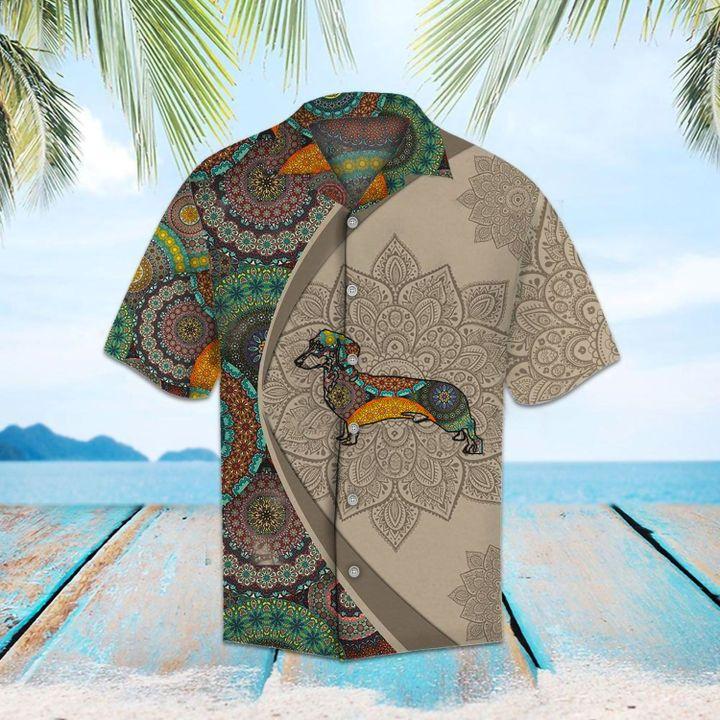 Dachshund mandala hawaiian shirt 3