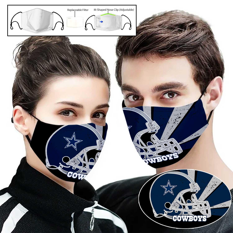 Dallas cowboys helmet full printing face mask 1
