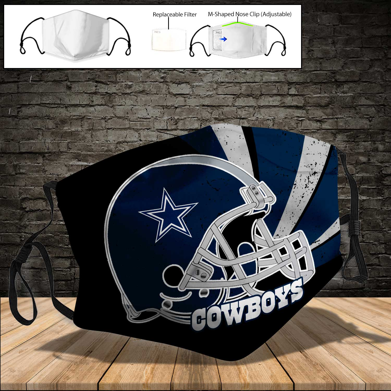 Dallas cowboys helmet full printing face mask 3