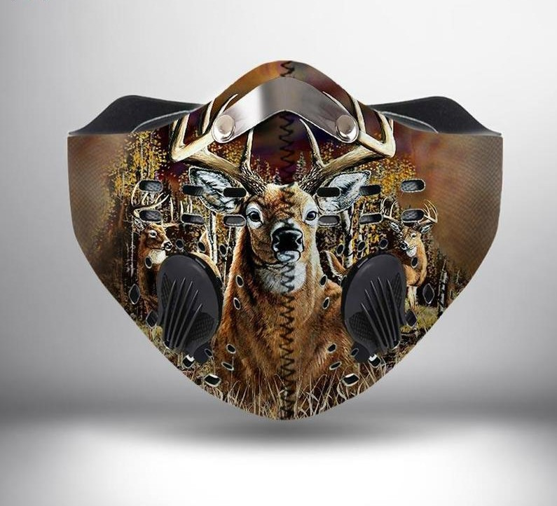 Deer hunting anti pollution filter activated carbon face mask 4