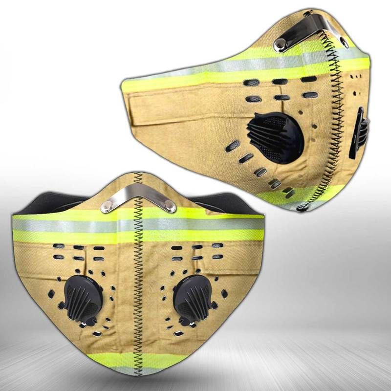 Firefighter anti pollution filter activated carbon face mask 2