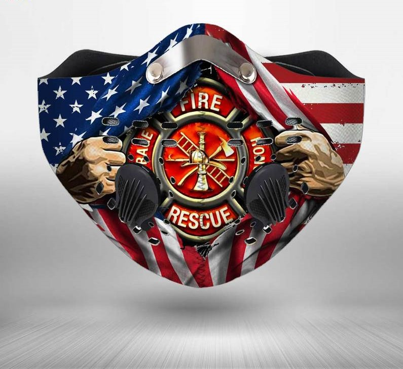 Firefighter fire honor rescue courage filter activated carbon face mask 4