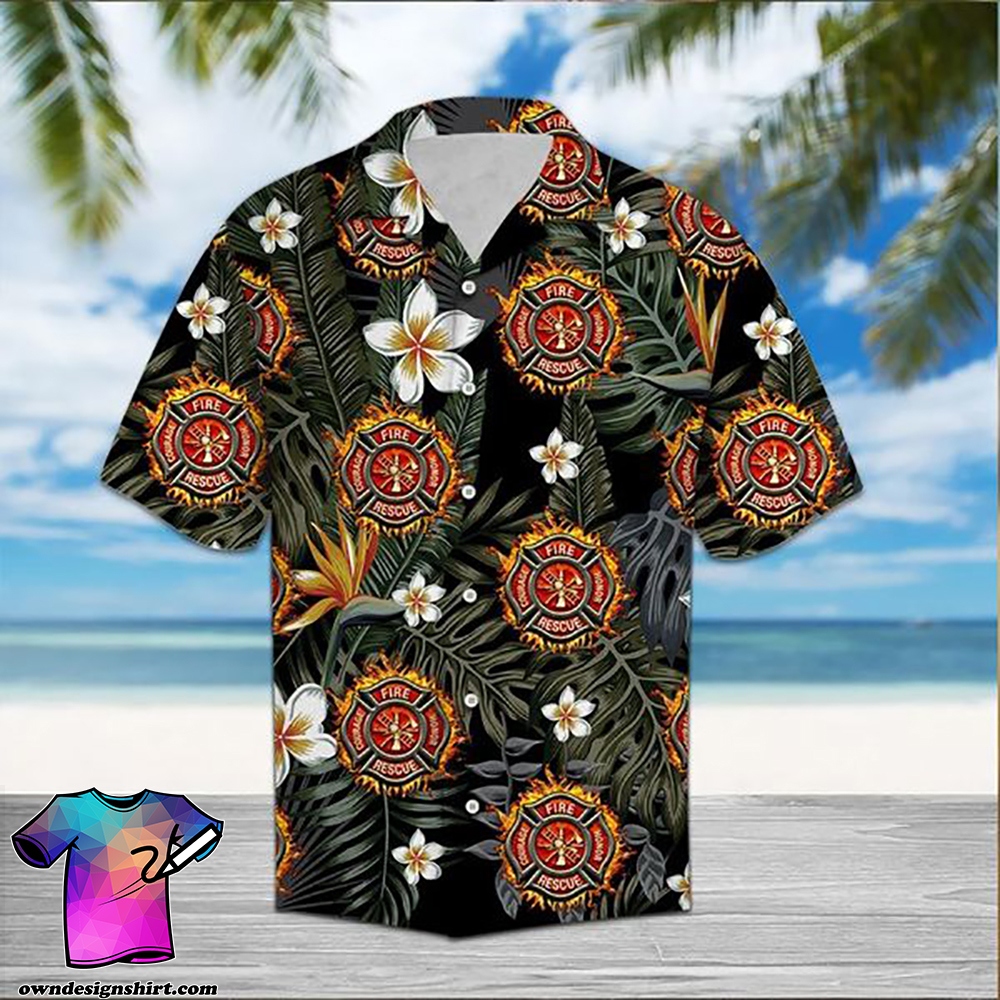 Firefighter hawaiian shirt 1