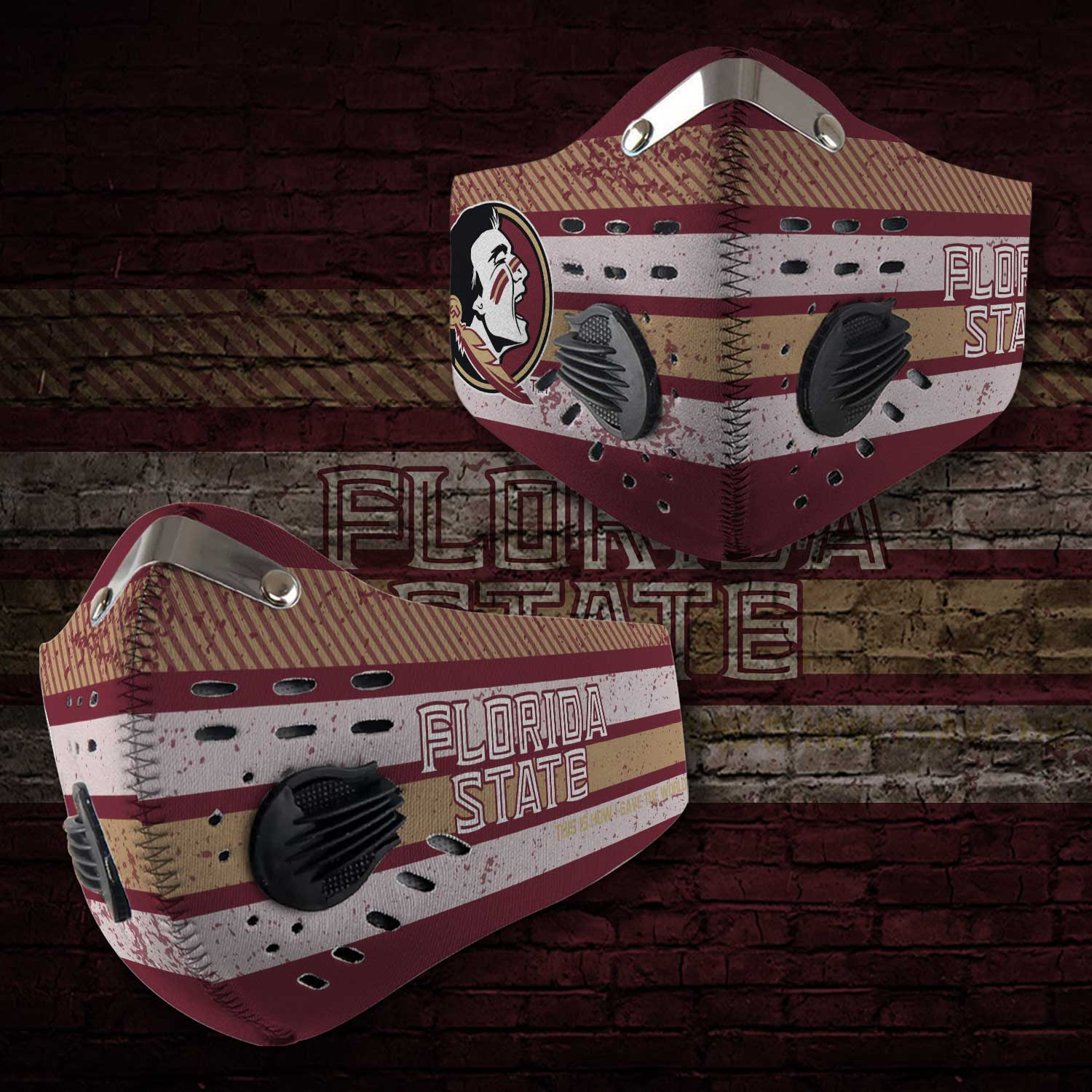 Florida state seminoles football this is how i save the world face mask 1