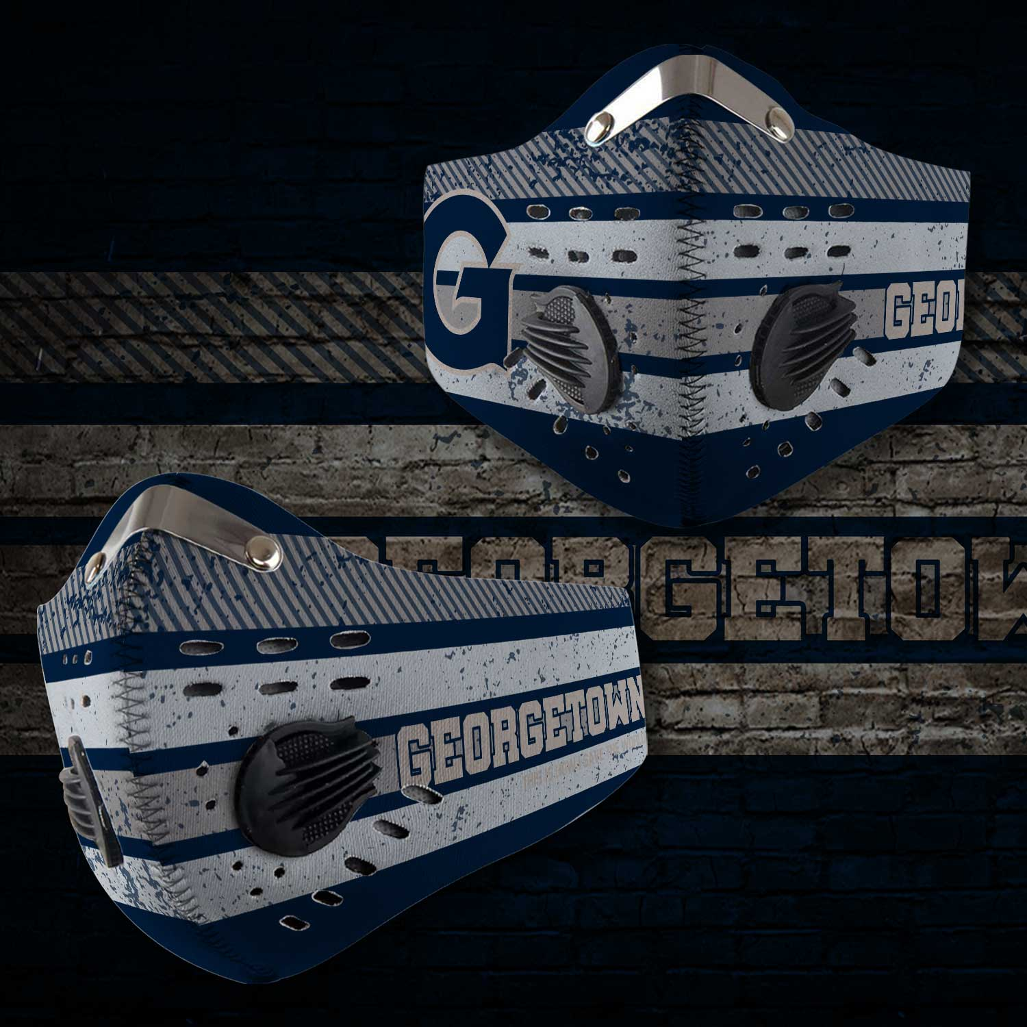 Georgetown hoyas men's basketball this is how i save the world face mask 1