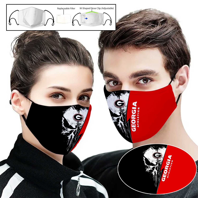 Georgia bulldogs punisher full printing face mask 1