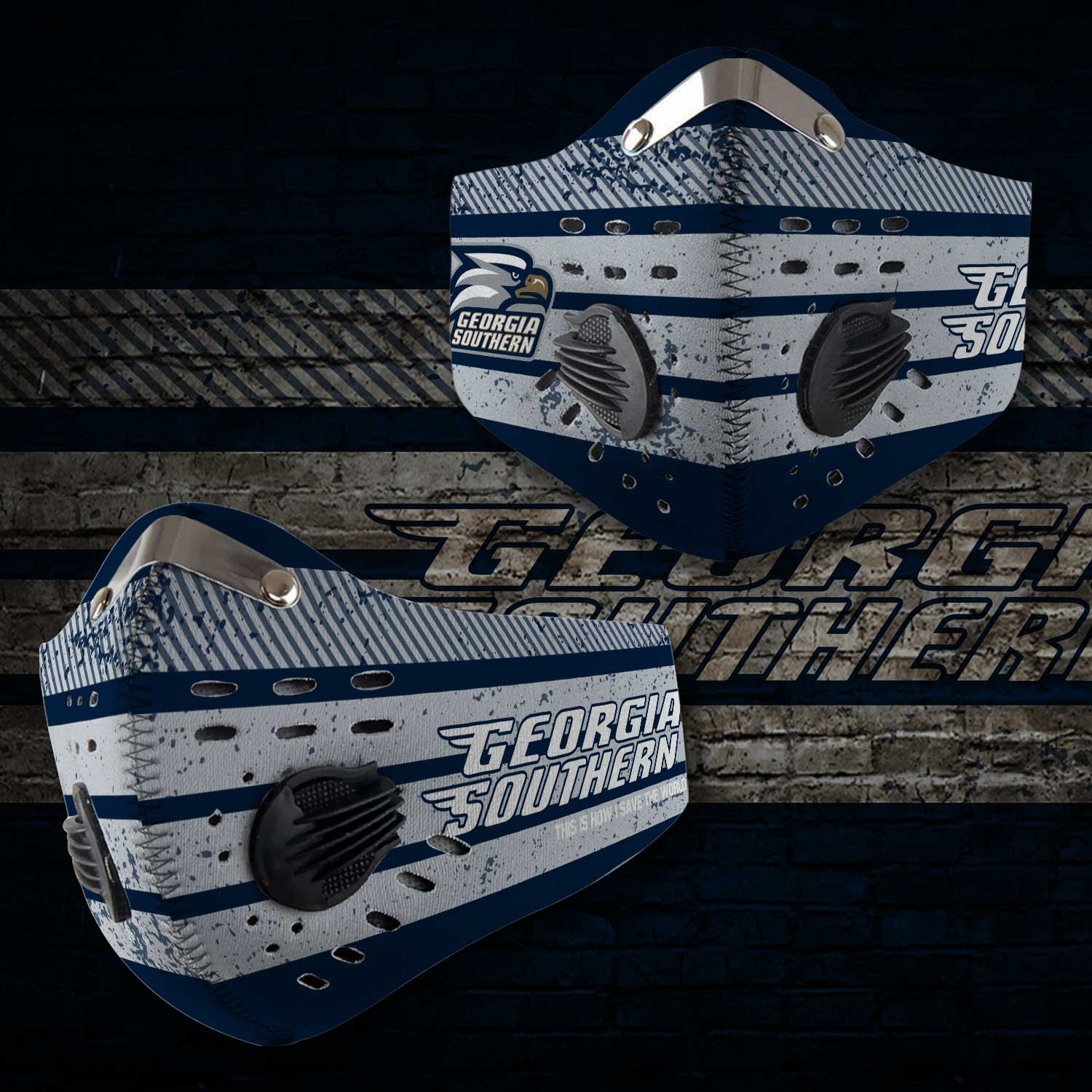 Georgia southern eagles football this is how i save the world face mask 2
