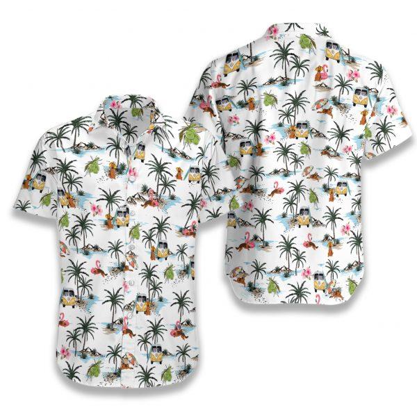 German shepherd hawaii hawaiian shirt 1