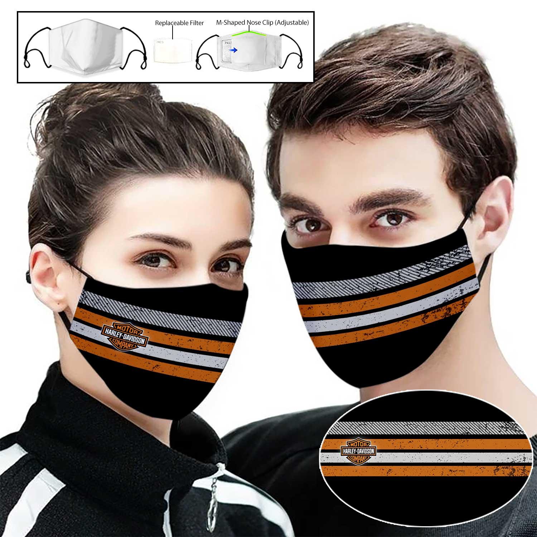 Harley-davidson company full printing face mask 1